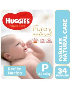 Huggies Pañal Natural Care P x 34 Unidades