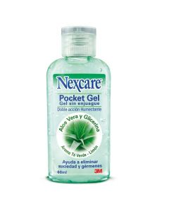 Nexcare Pocket Gel Para Manos Sin Enjuage x 60 mL Gel