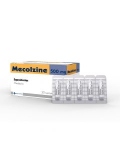 Mecolzine 500 mg x 30 Supositorios