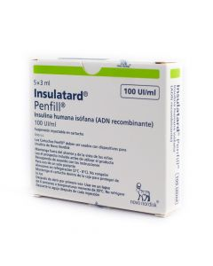 Insulina Insulatard HM Penfill 100 UI/mL Suspension Inyectable x 5 Unidades 3 mL
