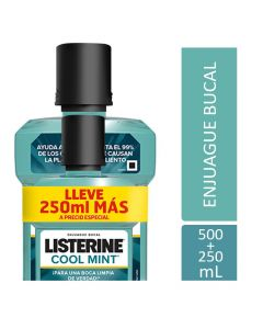 Pack Listerine Cool Mint 500ml