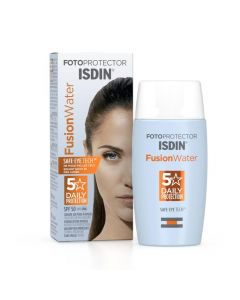 Isdin Fotoprotector Fusion Water Sin Color SPF 50 Daily Protection x 50 mL