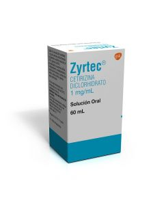 ZYRTEC 1 MG/ML SOL. FCO. 60ML.
