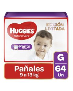 Huggies Pañal Pants Natural Care G x 64 Unidade